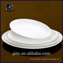 PT-0158 prato de porcelana de peixe forte servindo prato