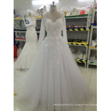 Aoliweiya Customize Bridal Wedding Dresses with Flower Appliques