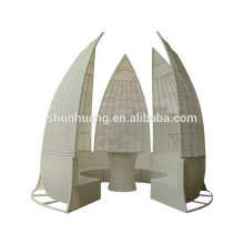 New design wicker furniture garden tent outdoor rattan house with seater