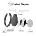 Support d'anneau en métal personnalisé pour titulaire de support de sonnerie de téléphone portable avec 360 degrés de rotation pour support de téléphone de voiture magnétique