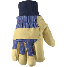 Drilling hand cowhide leather gloves reinforced pale