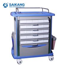 Chariot de thérapie en plastique d'équipement médical d'utilité de SKR054-MT ABS