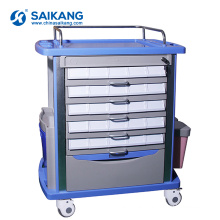 SKR054-MT ABS Medical Utility Equipment Plastic Therapy Trolley