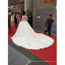 1A100C 2016 Combin Lace Abra Back Palace Vestido de casamento Real Picture Show Bridal Muslim Wedding Dress