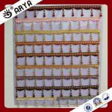 Hangzhou taojin franja de cuentas de textiles para la cortina deco y decoración de la lámpara