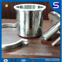 304 316 triclamp extractor de bobina, redutor de tampa final (personalizar)
