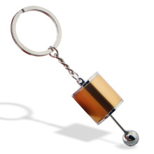 Colourful Car parts Modified Gear Shift box Head Keychain chain ring Can Be Free To Shift Metal Gift Pendant