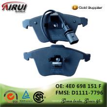 Almofadas de travão NAO Qualidade OE (OE: 4E0 698 151 F FMSI: D1111-7796)
