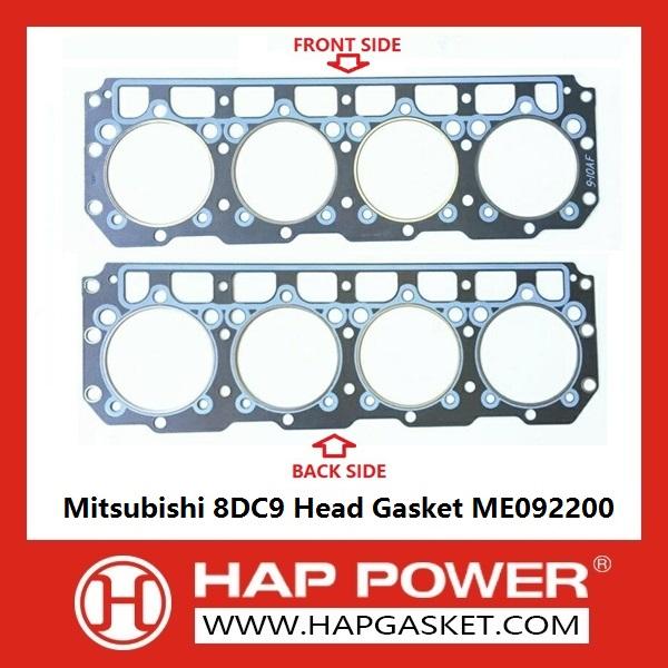 HAP-MI-C032 Mitsubishi 8DC9 Head Gasket ME092200