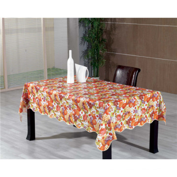 Clear Printed PVC Transparent Tablecloth Oilproof, Cheap and Strong, Waterproof Feature and Wedding, Home, Party, Banquet, Hotel