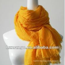 2016 la última moda bufanda modal del color sólido del 100% con el crincle