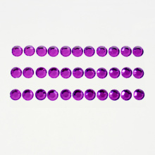 Purple Self- adhesive Rhinestone