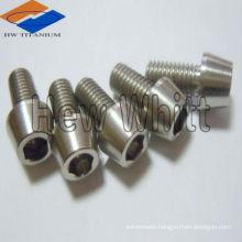 High strength GR5 titanium screws taper head