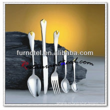 Platos y cubiertos del cocinero plateado oro de alta calidad del hotel T252