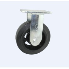H15 Heavy Duty Fixed Type Double Ball Bearing Rubber on Cast Iron Wheel Caster
