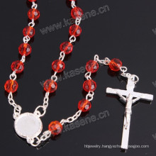 Factory Outlet Fashion Mixed Colour 6mm Crystal Facetd Religious Necklace