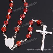 Мода заводской моды смешанного цвета 6мм хрусталя фацет религиозное ожерелье