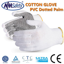 NMSAFETY pvc pointillé gant pas cher tricoté coton pointillé gants
