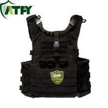 NIJ IIIA Black Tactical Bullet Proof Vest Ballistic Plate Carrier Kevlar Bullet Resistance Vest for wholesale
