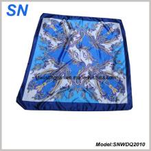 2015 Art und Weise Satin Paisley quadratischer Schal der Art-Frau