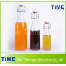 Venta al por mayor de vidrio redondo de agua potable botella