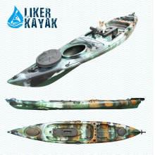 Kayak motorisé 4,3 sièges à siège simple assis sur les bateaux supérieurs