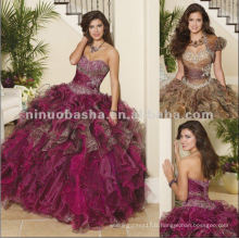 NY-2286 Imprimé Organza et Tulle avec Beading Quinceanera Dress
