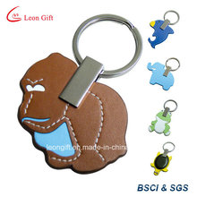 Couro Material Animal Keychain personalizado
