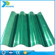 Fábrica de venda a quente diretamente grande pc folhas de telha de plástico ondulado transparente