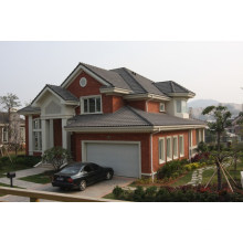 Prefabricated House with Large Car Garage/Light Steel Prefab Homes
