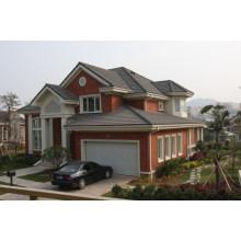 Casa pré-fabricada com grande garagem de carro / casas pré-fabricadas de aço luz