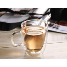 Clear Double Wall Glass Mug 16oz Coffee Cup