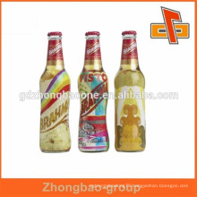 Drinks package PVC heat shrinking beer bottle neck label for labeling
