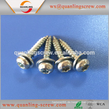 Großhandel aus China Flachkopf mit Unterlegscheibe selbstschneidende Schraube