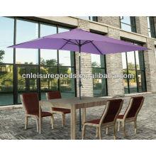 Parapluie d'ombre de soleil de jardin de rectangle en acier