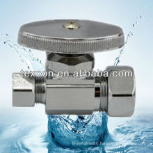 Brass Electroplating Chromium Mini Brass Angle Stop Ball Valve