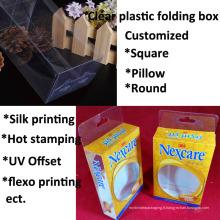 boîte d'emballage en plastique personnalisée d'usine de prix bon marché (boîte pliante)
