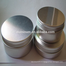 Pots de cosmétique en aluminium de la meilleure qualité en Chine