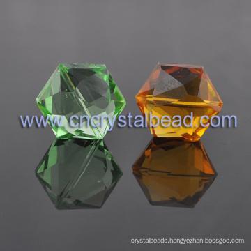 Hot Selling Crystal Hexagon shape Jewelry Crystal Bead