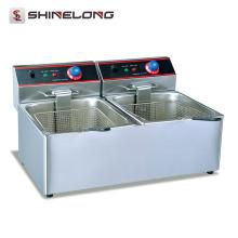 Frigideira elétrica elétrica sem frigideira Counter Top Double Basket Equipamento de cozinha com frigideira elétrica