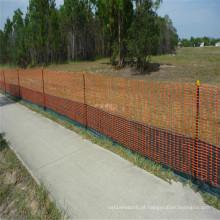 Rede de segurança de esgrima barreira laranja HDPE