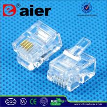 Daier Socket Cable Steckverbinder RJ11 Buchse 6P4C