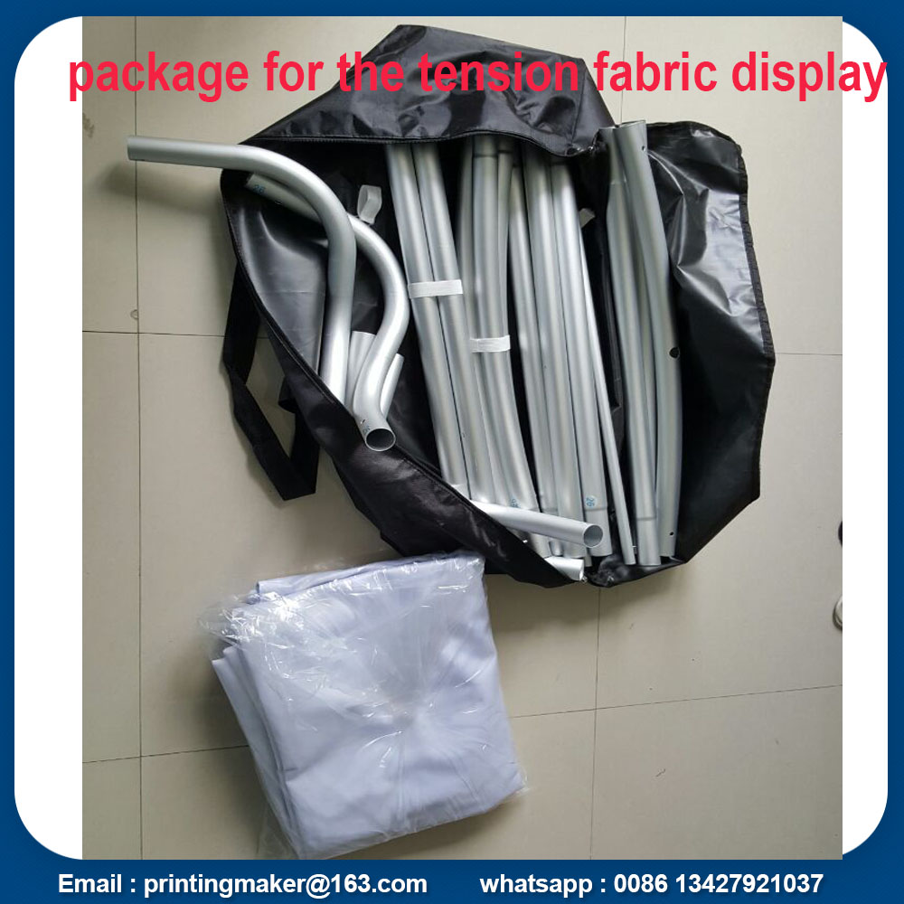 package of tension fabric stand banner