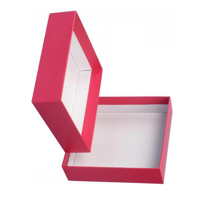 Red Rigid Paper Gift Box