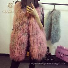 Direct factory price mongolian fur vest buy online