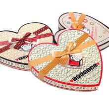Caja de regalo de chocolate de corazón de alta calidad con divisores de papel