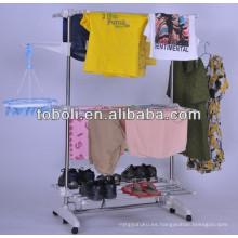 Soporte multipropósito para ropa de secado de dos capas