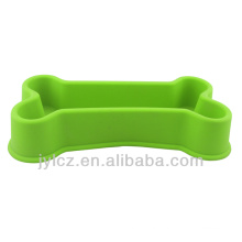 silicone bone shape pet bowl