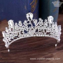 Crystal Peacock Bridal Tiaras With Color Diamonds