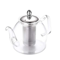custom borosilicate glass heat resistant luxury large tea set teapot